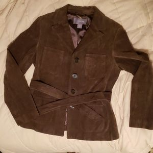Ann Taylor sueded leather jacket